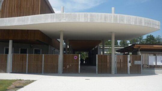 Parvis du collège de Lacanau