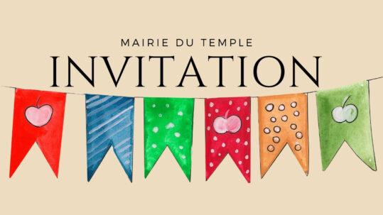 Invitation à l'inauguration du marché